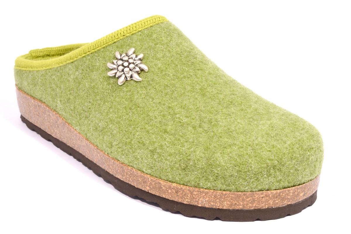bio alpes 977 salvia ciabatte tirolesi in pura lana cotta merinos made in italy collezione autunno inverno donna