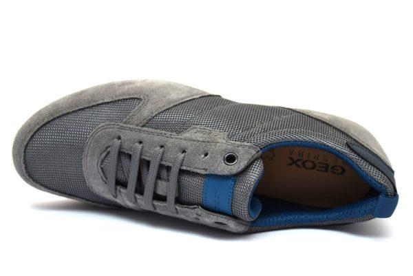 GEOX U920HA 02214 C9004 DAMIAN GRIGIO stone scarpe sneakers uomo primavera estate vera pelle camoscio