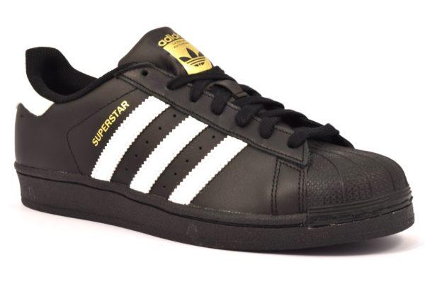 ADIDAS B27140 SUPERSTAR NERO Scarpe sneaker uomo scarpe da ginnastica vera pelle stringate
