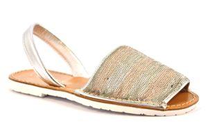 CAFE NOIR MEC920 2281 EC920 CIPRIA ARGENTO argento scarpe sandali bassi fascianti donna minorchine paillettes