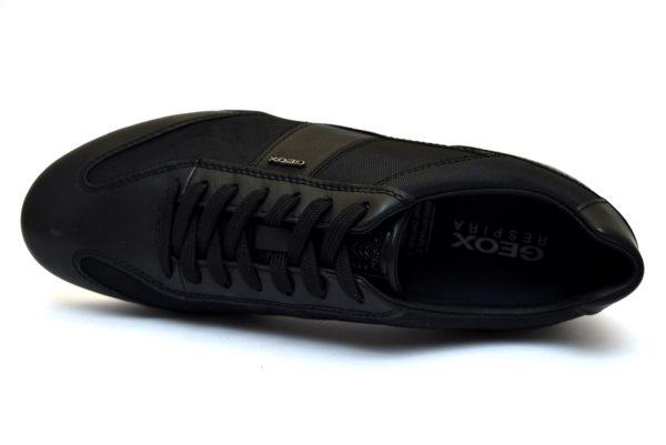 GEOX U74T5A 08511 C9999 WELLS NERO scarpe sneakers stringate uomo primavera estate vera pelle