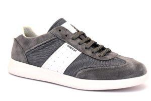 GEOX U926FA 02214 C0579 KENNET GRIGIO scarpe sneakers uomo primavera estate vera pelle camoscio