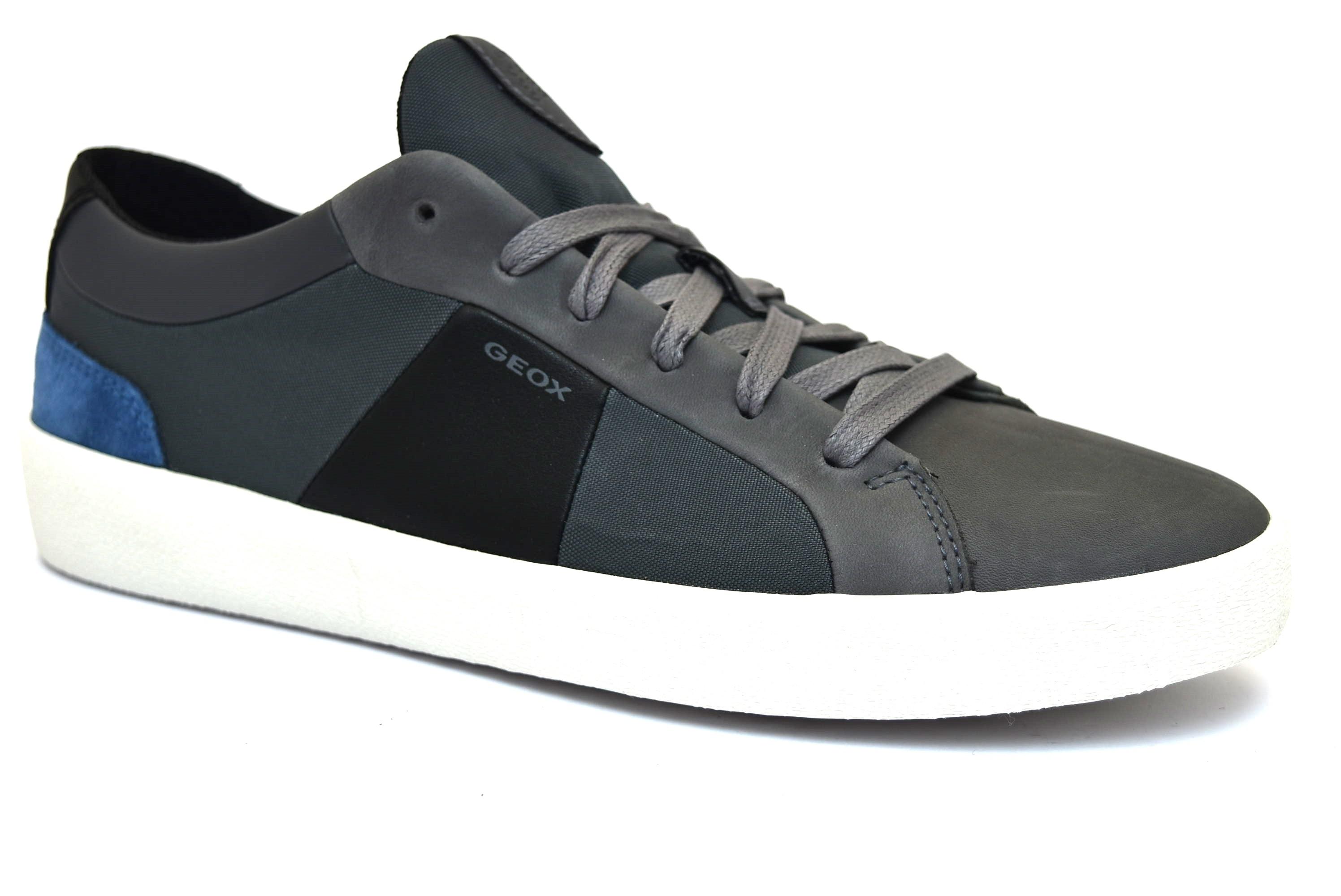 cee12d82b9aef GEOX U926HB 04311 C9147 WARLEY GRIGIO scarpe sneakers uomo primavera estate  vera pelle camoscio