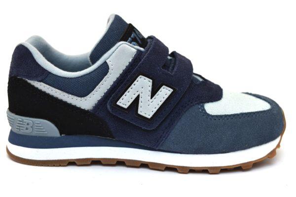 NEW BALANCE YV574MLA BLU AZZURRO Scarpe Sneaker Bambino Strappi Scarpe da ginnastica Sport