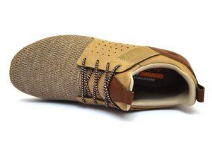 SKECHERS 65474 LTBR MARRONE Sneakers Stringata Sportiva Lacci Scarpe Pelle Uomo Primaverili collezione primavera estate