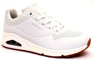 SKECHERS 73690 WHT BIANCO Scarpe Sneaker Donna Stringata Memory Foam Air Cooled