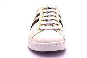 geox d921ba 08554 c1000 jaysen bianco blu oro scarpe sneaker donna vera pelle stringate