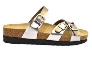grunland hola cb2199 11 titanio ciabatte sandali donna in vera pelle multi fibie regolabili zeppa