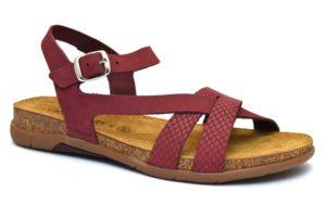 grunland omei sb1275 40 bordò sandali donna cinturino vera pelle sottopiede soft