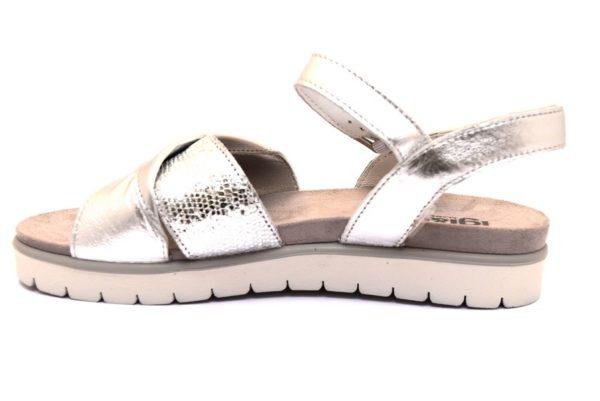 igieco 3167411 argento sandali donna vera pelle cinturino sottopiede scamosciato primavera esate