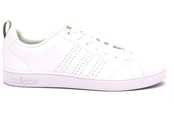 adidas f99251 vs advantage cl bianco verde sneaker uomo ragazzo unisex lacci sport tempo libero scarpe