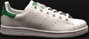 adidas m20605 stan smith j bianco verde sneaker scarpe vera pelle lacci donna unisex ragazzo ragazza