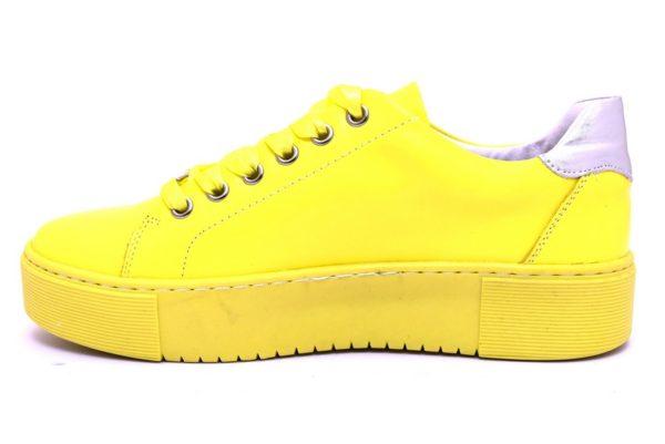 cafènoir idd121 1958 giallo dd121 argento sneaker scarpe donna stringate lacci vera pelle scarpe estive primavera