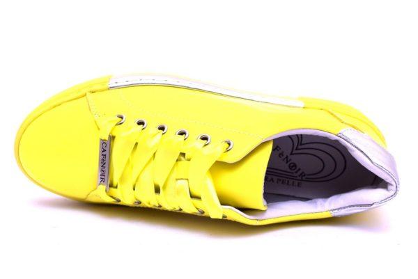 cafè noir idd121 1958 giallo dd121 argento sneaker scarpe donna stringate lacci vera pelle scarpe estive primavera