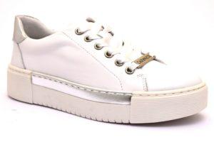 cafènoir idd121 203 bianco argento dd121 sneaker donna vera pelle lacci scarpe stringate