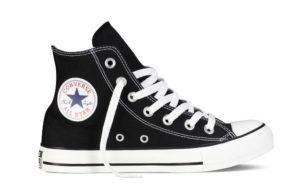 Converse m9160c all star alte nere bianche in cotone a stivaletto collezione uomo donna