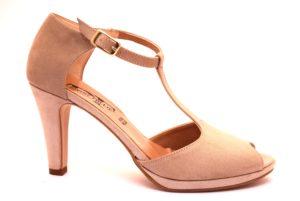 divine follie 9922 cipria sandalo scarpe donna vera pelle scamosciato