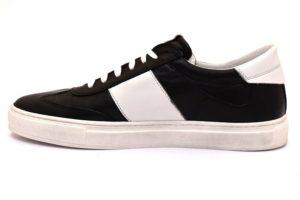 divine follie FESA 22M U NERO Bianco SNEAKER uomo vera pelle collezione nuova scarpe