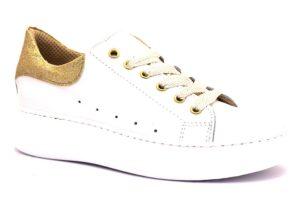 divine follie mc d bianco sneaker donna lacci zeppa vera pelle oro glitter brillantini tempo libero sera