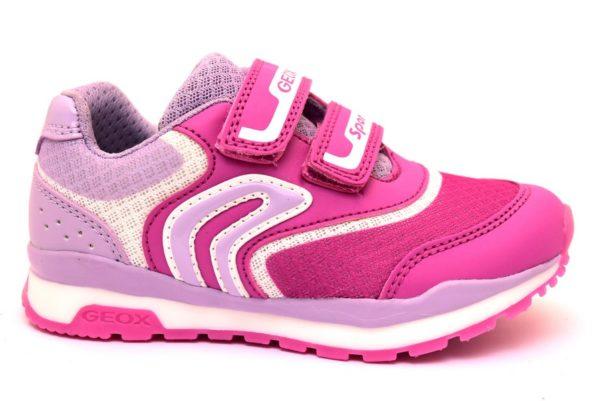 geox j928ca 01454 c8257 j pavel g rosa sneaker scarpe da ginnastica bambina palestra strappi primavera estate