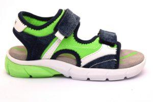 geox j929da 01413 c4457 j s flexyper jeans verde sandali VERDE FLUO STRAPPI Bambino