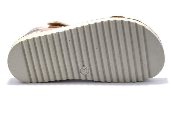 grunland gris sa1797 70 cipria sandali bambina strappi fibia vera pelle brillantini