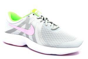 nike 943306 006 revolution 4 grigio verde rosa sneaker donna ragazza sport palestra scarpe estive lacci