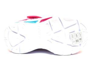 skechers 10921n npmt rosa sneaker bambina luci led strappi scarpe sport palestra multi color
