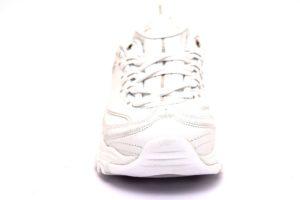 skechers 11931 wsl bianco sneaker scarpe donna air cooled memory foam lacci zeppa tempo libero