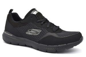 skechers 13069 bbk nero sneaker donna lacci air cooled memory foam sport donna unisex