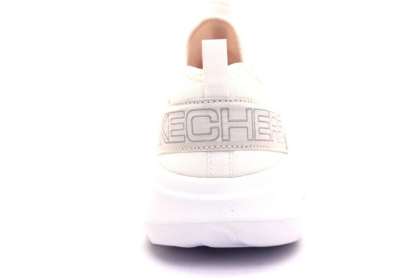 skechers 15103 wht bianco sneaker donna scarpe palestra sport estive primavera estate lacci air cooled
