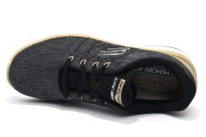 skechers 52957 blk grigio sneaker uomo lacci memory foam air cooled sport palestra