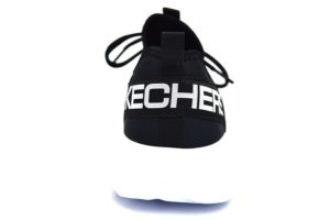 skechers 55103 bkw nero sneaker uomo scarpe da ginnastica air cooled goga mat