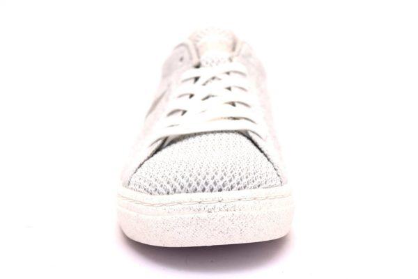 skechers 73828 wht bianco sneaker donna lacci traforata tempo libero