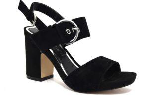 cafènoir ila522 010 nero la522 sandali donna tacco cinturino scamosciati argento sera cerimonia