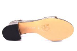 cafènoir ilb967 2466 pewter lb967 canna-di fucile sandali donna cinturino tacco vera pelle sera cerimonie tempo libero