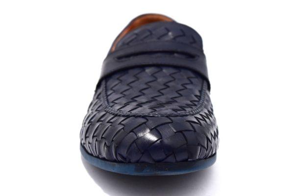 cafènoir irl123 292 navy mocassino uomo pelle elegante sera scarpe stive eleganti