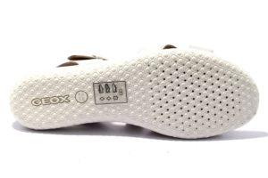 geox d92r6e 00043 c1002 d sand vega bianco sandali donna cinturino vera pelle estate tempo libero
