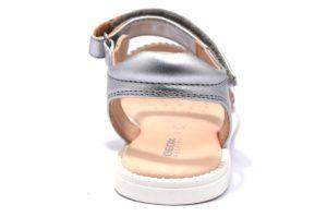 geox j9235g 0nfzi c1007 j s karly bambina sandali argento strappi vera pelle estate tempo libero