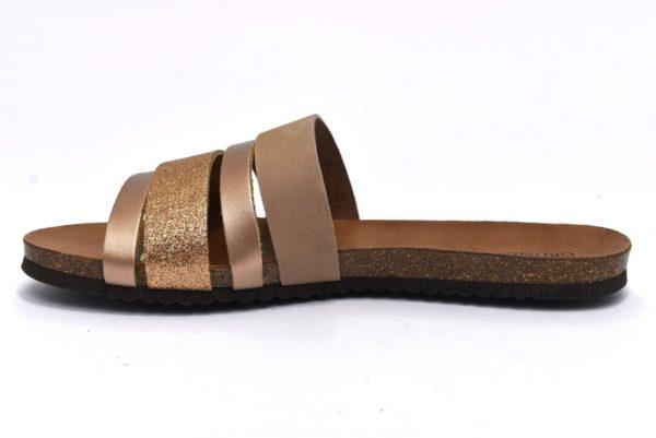 grunland demy cb1722 40 cipria ciabatte donna fascia glitter vera pelle estive casa
