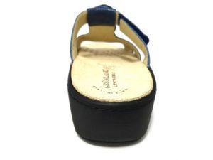 grunland esta ce0591 68 blu ciabatte donna strappi strass perle vera pelle plantare estraibile zeppa