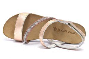 grunland juis sb1293 70 cipriaargento bianco sandali donna vera pelle strass cinturino zeppa tempo libero