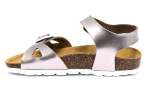 grunland luce sb0434 40 bronzo sandali bambina pelle fibbie sughero tempo libero