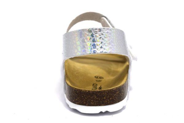 grunland luce sb1313 40 iridescente argento bambina fibbie sughero pelle strappi tempo libero