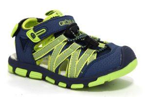 grunland picc sa2440 91 blu lime sandali bambino strappi vera pelle sandalo chiuso tempo libero