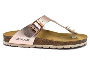 grunland sara cb2383 40 cipria ciabatte donna cipria fibbia vera pelle mare piscina casa