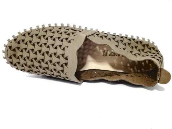 grunland vivy sc3532 f6 taupe mocassini ballerine donna vera pelle scamosciate traforate slipon estive