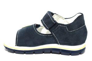 primigi 3380400 blu sandali bambino strappi pallone stampa estate tempo libero