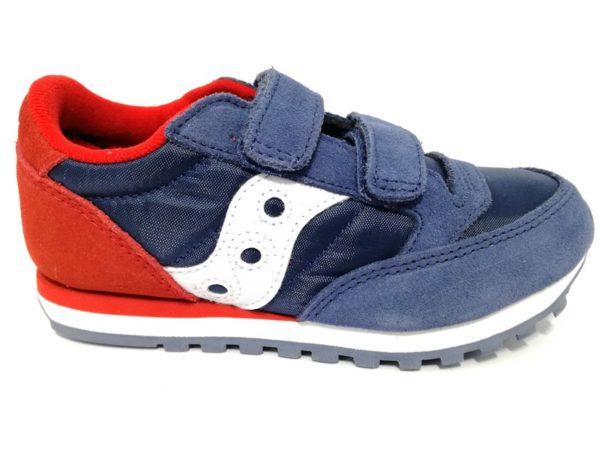 saucony sk261008 jazz double blu rosso sneaker bambino strappi multicolor sport tempo libero scarpe estive