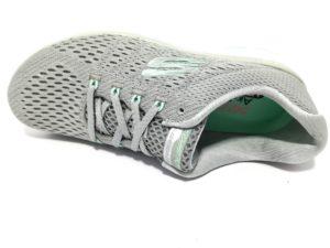 skechers 13064 gymn grigio sneaker donna sport palestra air cooled memory foam lacci scarpe estive